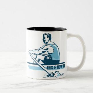 Aviron de l équipage mug