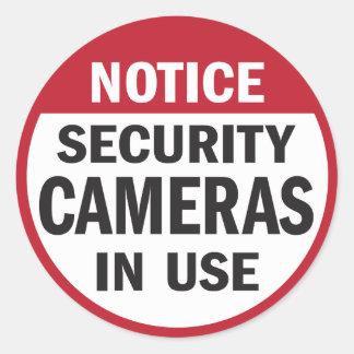 Avis Autocollant en service de caméras de sécuri