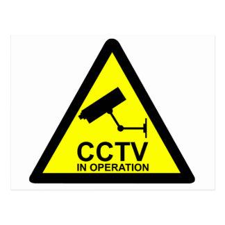 Avis de télévision en circuit fermé carte postale