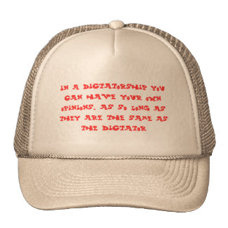Avis drôles des textes dans une dictature casquettes de camionneur