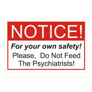 Avis/psychiatre Carte Postale