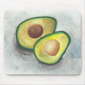 Avocat dans l'aquarelle tapis de souris