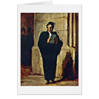 Avocat de Lesender par Honore Daumier Carte De Vœux