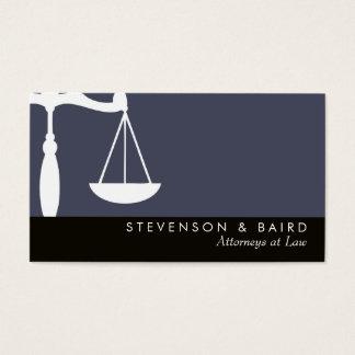 Avocat d'échelle de justice cartes de visite