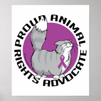 Avocat fier de droits des animaux poster