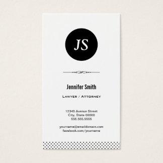 Avocat/mandataire - blanc noir propre cartes de visite