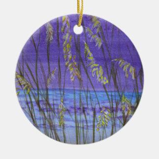 Avoine de mer ornement rond en céramique