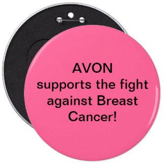 Avon soutient le combat contre le cancer du sein badge rond 15,2 cm