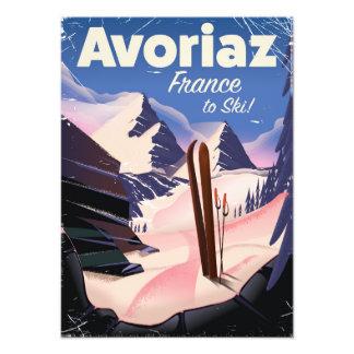 Avoriaz, affiche française de voyage de ski  tirage photo