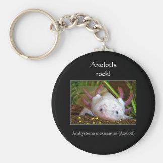 Axolotl Porte-clé Rond