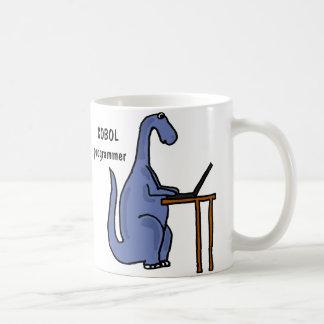 AY- tasse de dinosaure de programmeur de COBOL