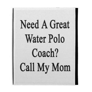 Ayez besoin d un grand appel d entraîneur de polo étuis iPad folio