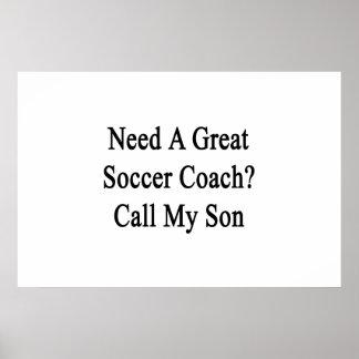 Ayez besoin d'un grand appel d'entraîneur du poster