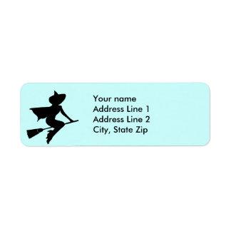 Ayez le balai voyagera étiquette d'adresse retour
