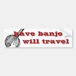 ayez le banjo voyagera adhésif pour pare-chocs autocollants pour voiture