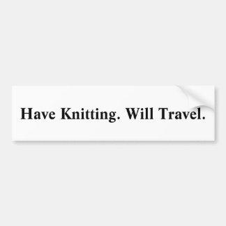 Ayez le tricot. Voyagera. ` Autocollant De Voiture