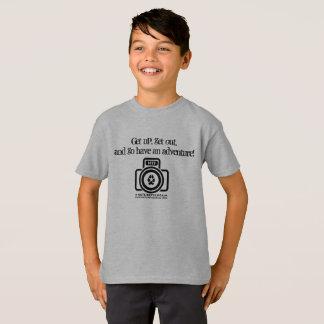 Ayez les enfants d'une aventure/la chemise logo de t-shirt