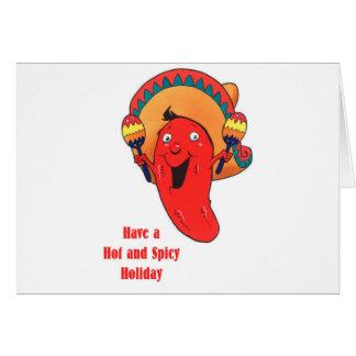 Ayez Noël chaud et épicé de vacances Carte De Vœux