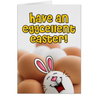 Ayez Pâques eggcellent Carte De Vœux