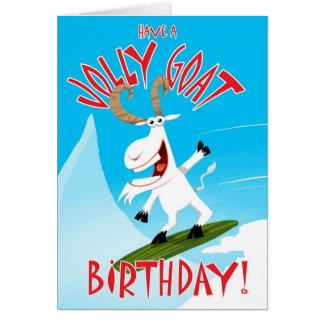 Ayez un anniversaire gai de chèvre ! carte de vœux