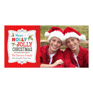 Ayez un carte photo gai de vacances de Noël de
