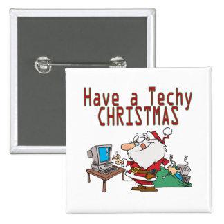 ayez un geek irritable père Noël d'ordinateur de N Badge Carré 5 Cm