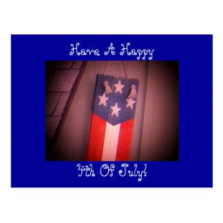 Ayez un heureux, 4 juillet ! Carte postale
