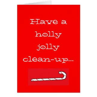 Ayez un nettoyage gai de houx… carte de vœux