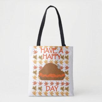 Ayez un sac fourre-tout heureux à jour de la
