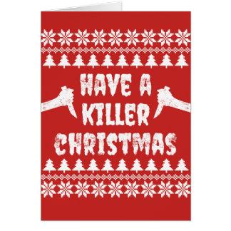 Ayez une carte de Noël de tueur