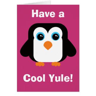 Ayez une carte de Noël fraîche de pingouin de Noël
