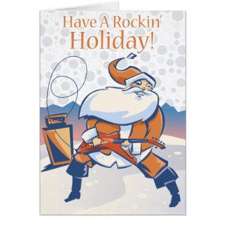 Ayez une carte de voeux d'entreprise de vacances carte de vœux
