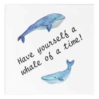 """""""Ayez vous-même une baleine art de mur de moment"""""""