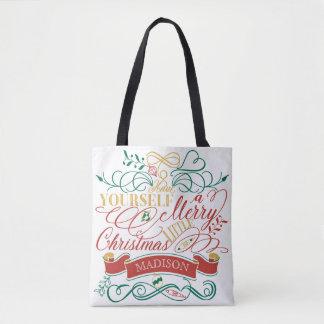 Ayez vous-même une joyeuse petite typographie de sac