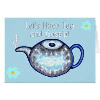 Ayons le thé et le bavardage ! carte de vœux