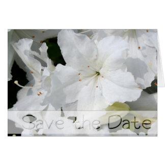 Azalée blanche - faites gagner la date - carte