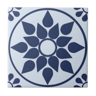 Azulejo bleu petit carreau carré