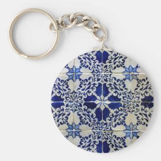 Azulejos, Portuguese Tiles Porte-clé Rond