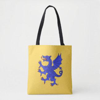 Azur effréné de dragon tote bag