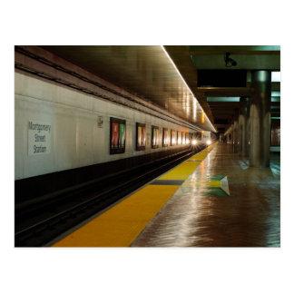 B.A.R.T. Carte postale de train