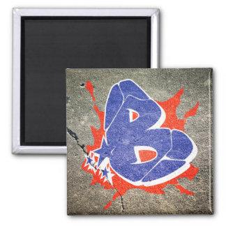 B - Aimant de lettre de graffiti