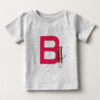 B est pour la lettre sautante heureuse d'ABC de T-shirt Pour Bébé