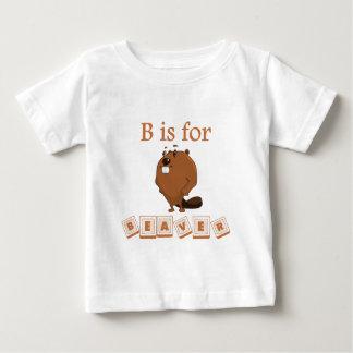 B est pour le castor t-shirt pour bébé