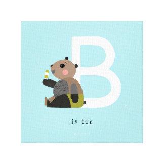 B est pour… toiles tendues sur châssis