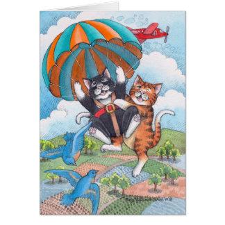 B et note d'anniversaire de parachute de T #57 Cartes De Vœux