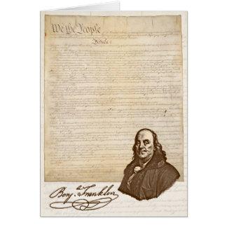B. Franklin : Liberté et sécurité - carte de voeux
