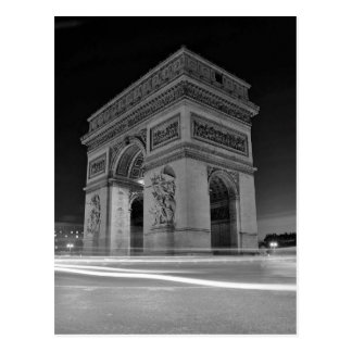 B&W Arc de Triomphe 4 Carte Postale