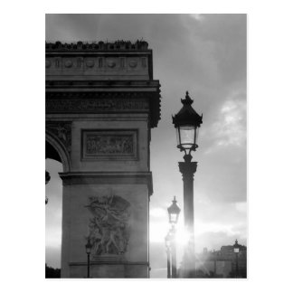 B&W Arc de Triomphe Cartes Postales