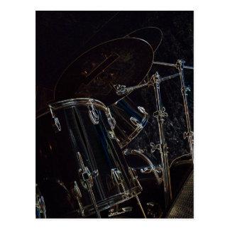 B/W Drumset 5 Carte Postale