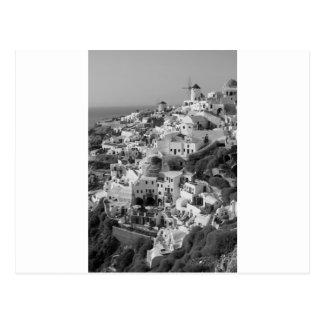 B&W Santorini 5 Carte Postale